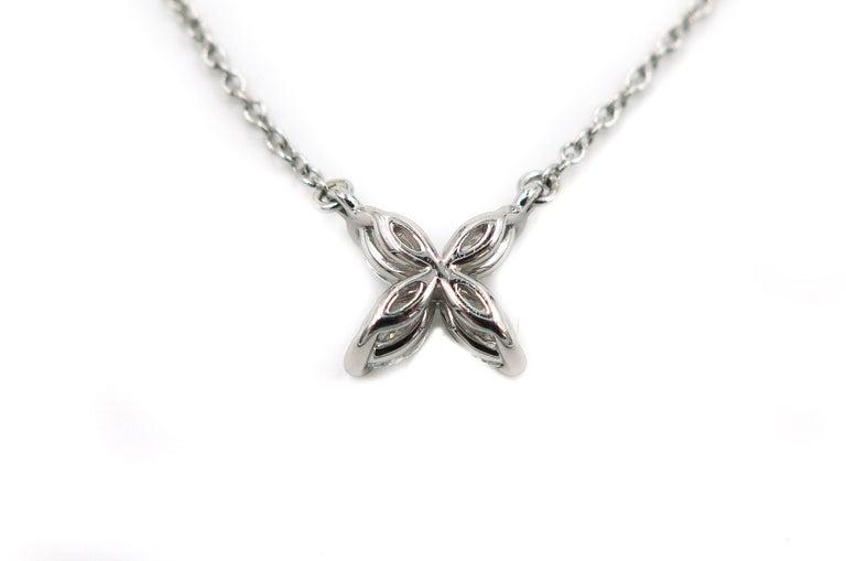 Romantic Platinum Tiffany & Co. Victoria Diamond Pendant For Sale