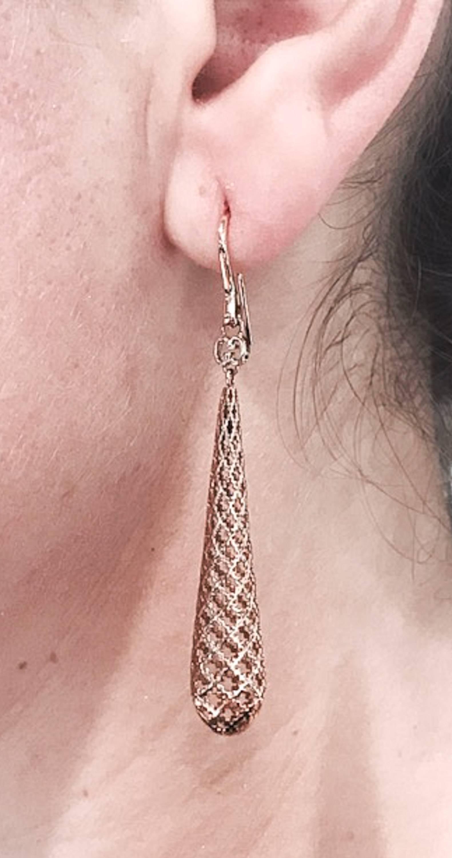 99d047dd0db Gucci Diamantissima Drop Rose Gold Earrings at 1stdibs