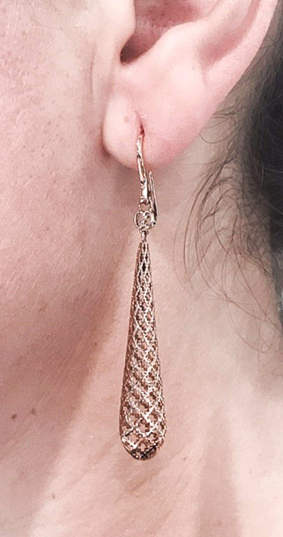 5d33552792d Gucci Diamantissima Drop Rose Gold Earrings at 1stdibs