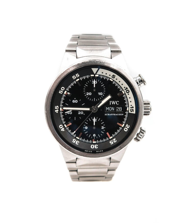IWC Stainless Steel Aquatimer Chronograph Automatic ...
