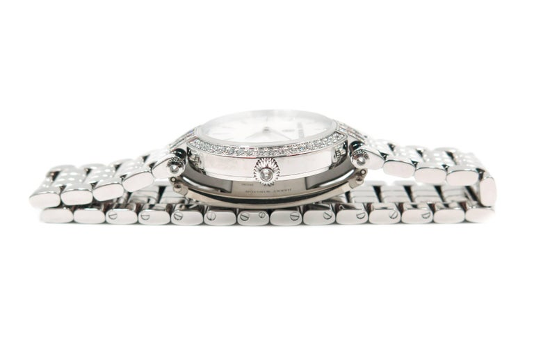 Women's Harry Winston Ladies White Gold Diamond Premier quartz Wristwatch For Sale
