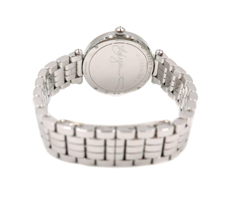 Modern Harry Winston Ladies White Gold Diamond Premier quartz Wristwatch For Sale