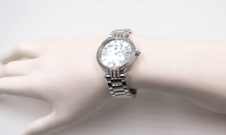 Harry Winston Ladies White Gold Diamond Premier quartz Wristwatch For Sale 2