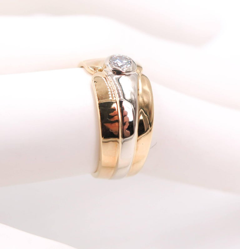 18 Karat Yellow Gold Wide Band In New Condition For Sale In Greenwich, CT