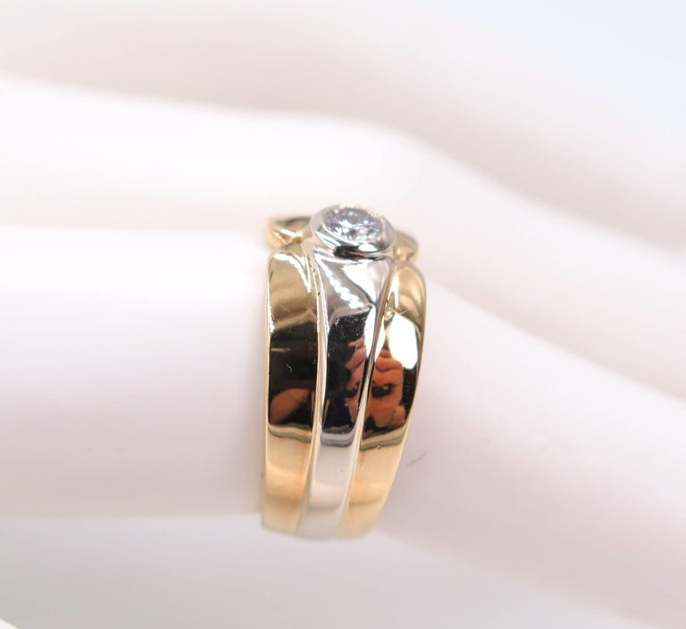 18 Karat Yellow Gold Wide Band For Sale 1