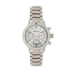 Breguet Ladies Stainless Steel Diamond Mother-of-Pearl Type XX Wristwatch