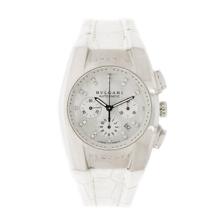 Bulgari Ladies Stainless Steel Ergon Chronograph self-winding Wristwatch
