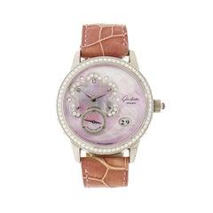 Glashütte Original Ladies White Gold Diamond Panodate self-winding Wristwatch