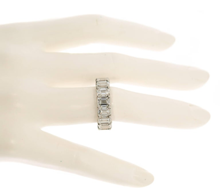 Emerald Cut Diamond Eternity Band For Sale 1