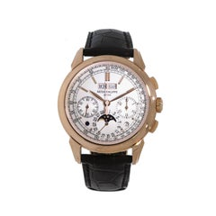 Patek Philippe Rose Gold Perpetual Chronograph manual wristwatch