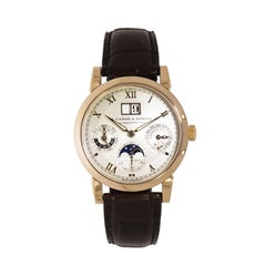 A. Lange & Sohne Rose Gold Langematik Perpetual Calendar Self Winding Wristwatch