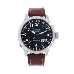 Glashütte Original Stainless Steel Senator Navigator Pano-Date Wristwatch