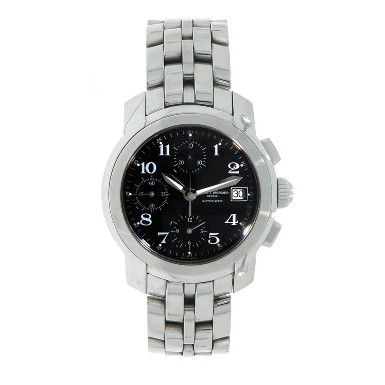 Baume & Mercier Stainless Steel Capeland Chronograph self-winding Wristwatch