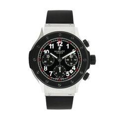Hublot Stainless Steel Super B Black Magic self-winding Wristwatch