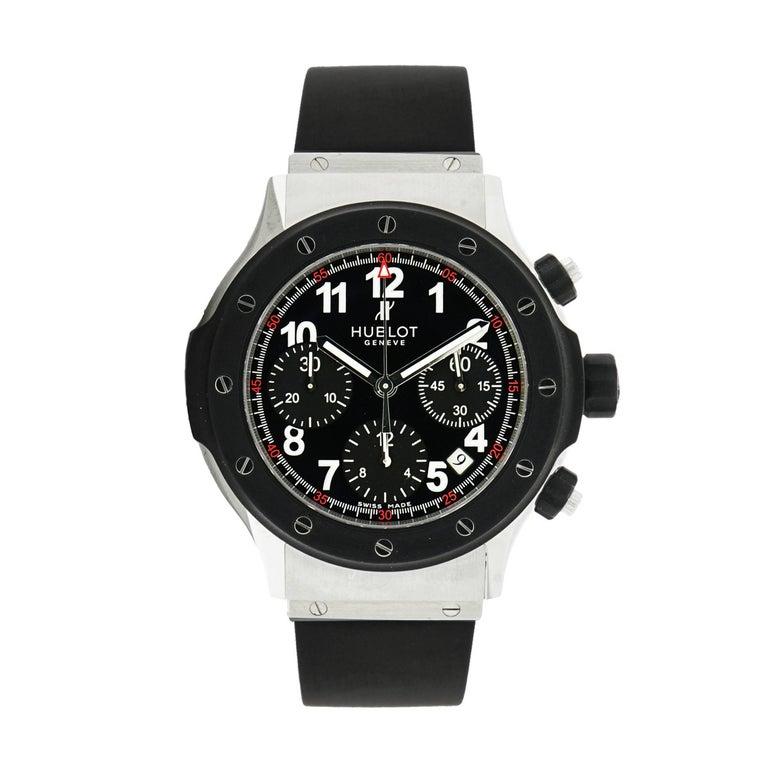 Hublot Stainless Steel Super B Black Magic self-winding Wristwatch For Sale
