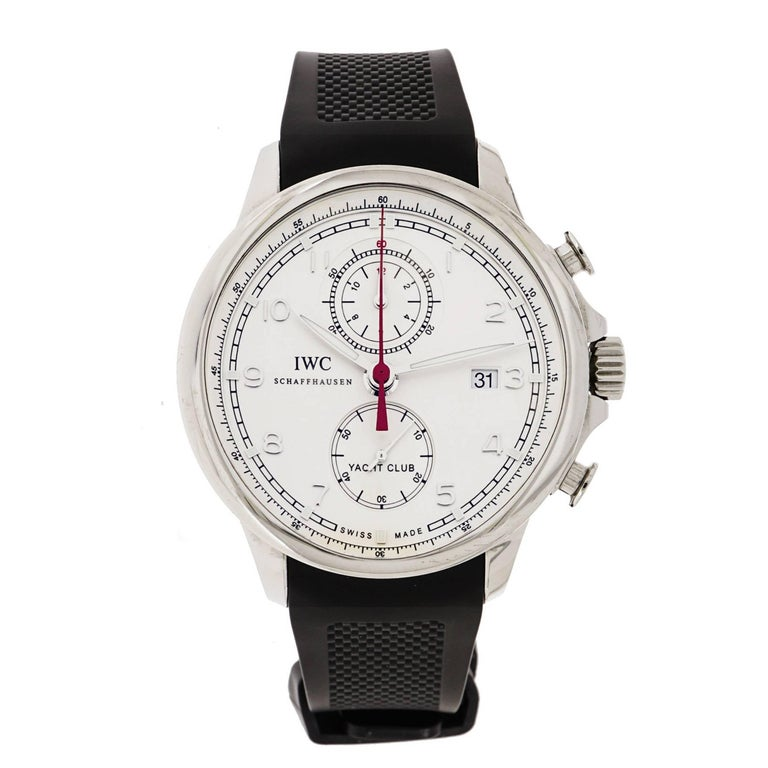 IWC Stainless Steel Yacht Club Chronograph self-winding Wristwatch