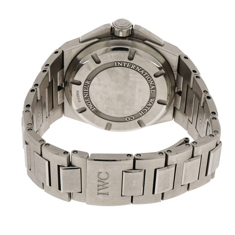 Modern IWC Stainless Steel Ingenieur Mission Earth self-winding Wristwatch For Sale