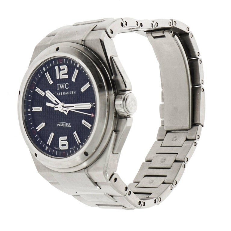 IWC Stainless Steel Ingenieur Mission Earth self-winding Wristwatch In Excellent Condition For Sale In Greenwich, CT