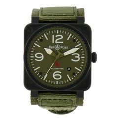 Bell & Ross Stainless Steel Military Type self-winding Wristwatch Ref BR-03-92