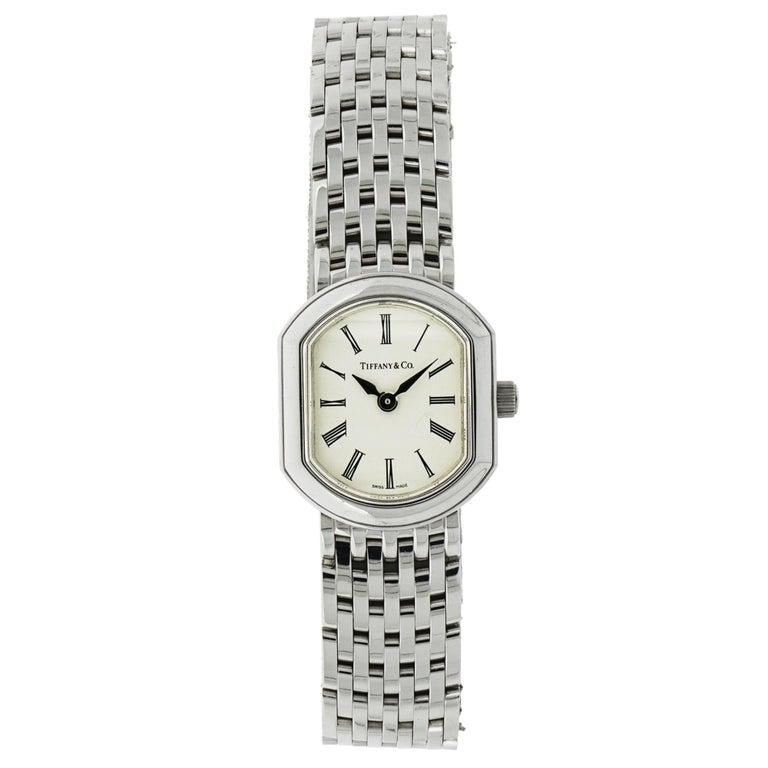Tiffany & Co. Ladies White Gold Quartz Wristwatch