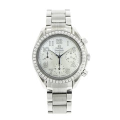Omega  stainless steel Diamond Bezel self-winding Bracelet Wristwatch