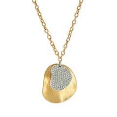 Diamond Pave Petals Rose Gold Pendant