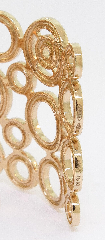 Diamond Gold Circle Cuff Bracelet 5