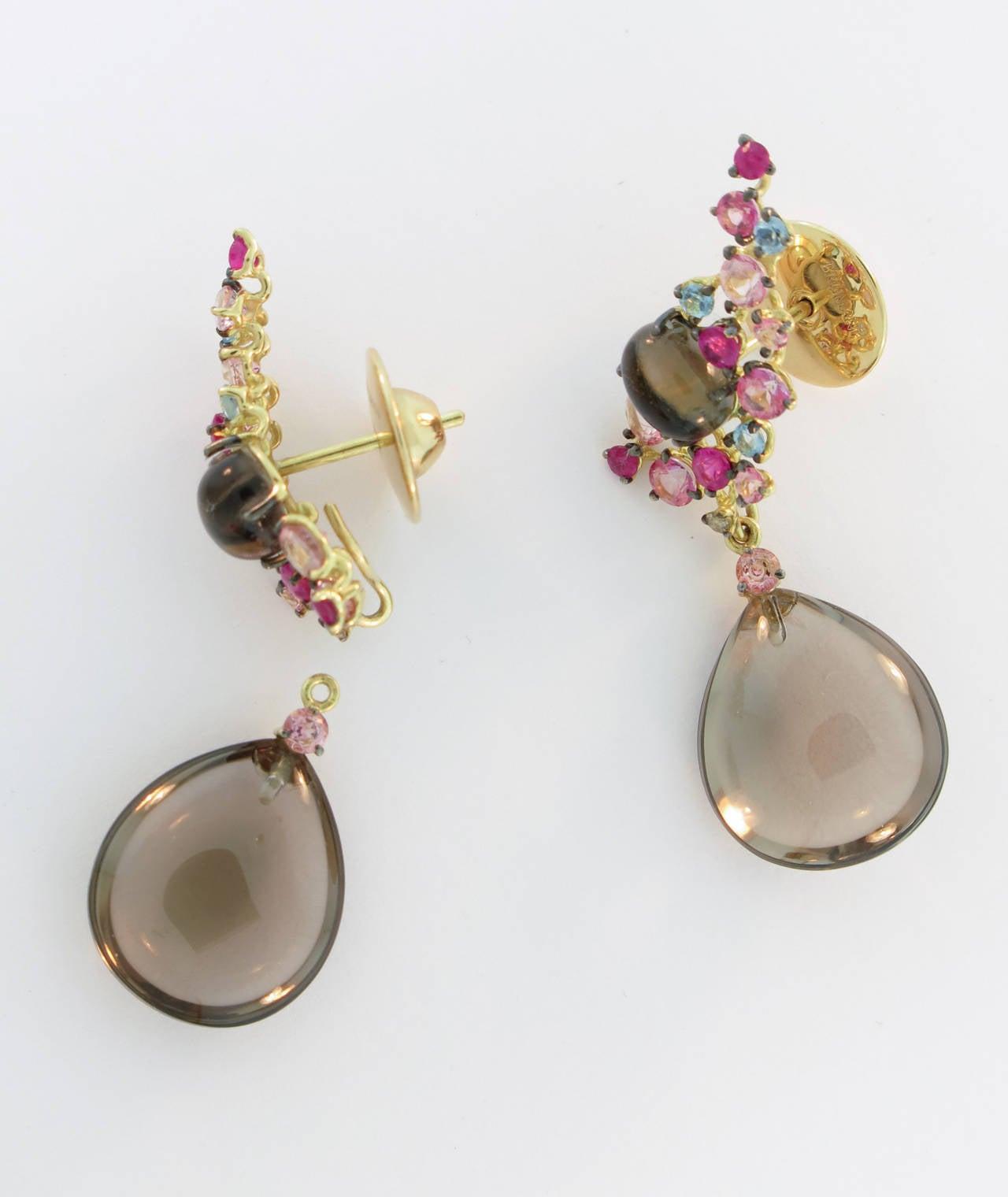 Smoky Quartz Drop Earrings 3