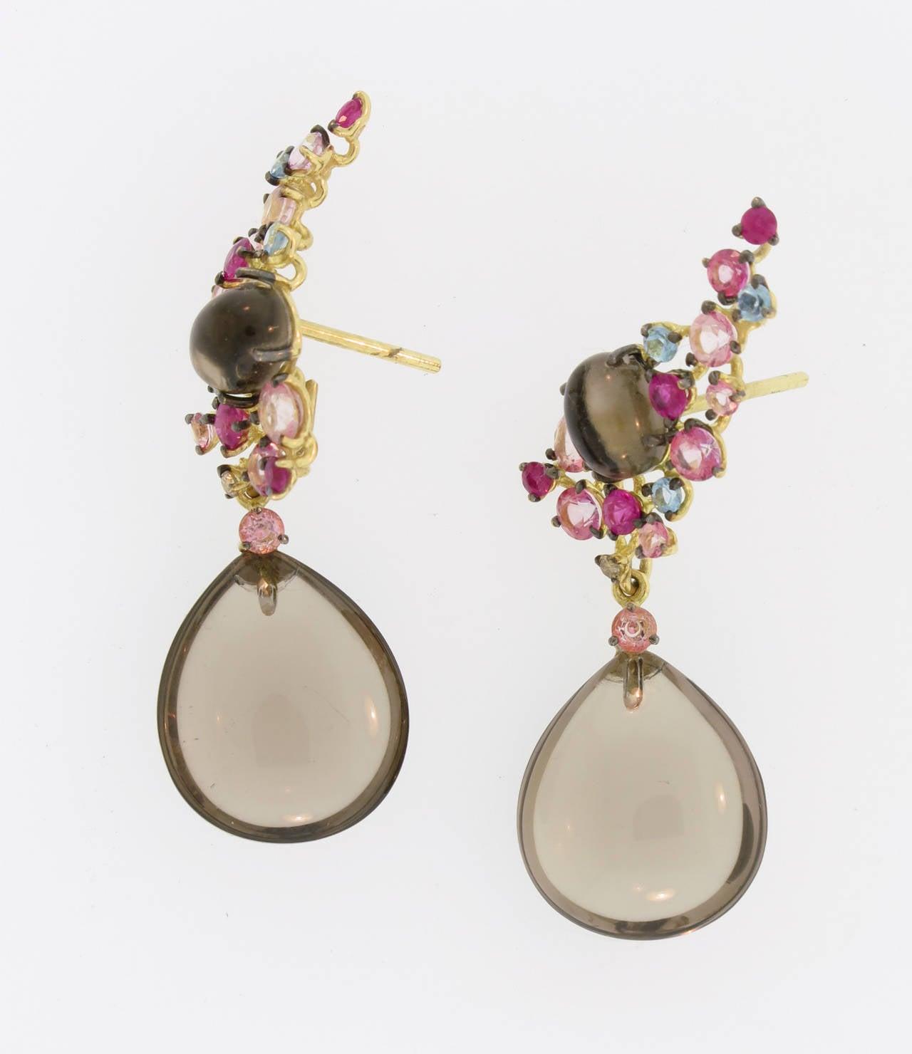 Smoky Quartz Drop Earrings 4