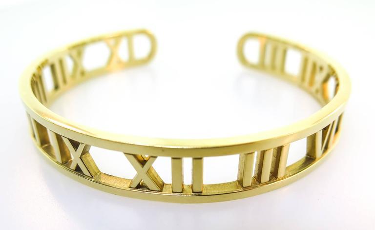 Tiffany & co. gold Atlas Cuff Bracelet 5
