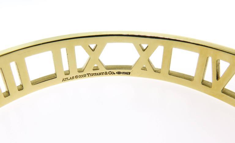 Tiffany & co. gold Atlas Cuff Bracelet 6