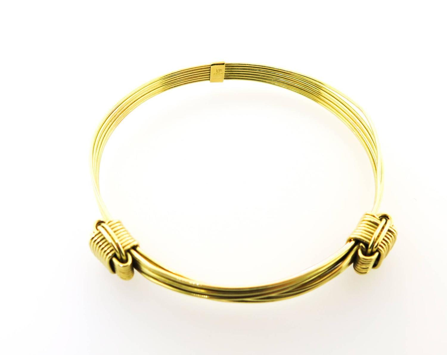 Elephant hair bracelet with gold for men - photo#27
