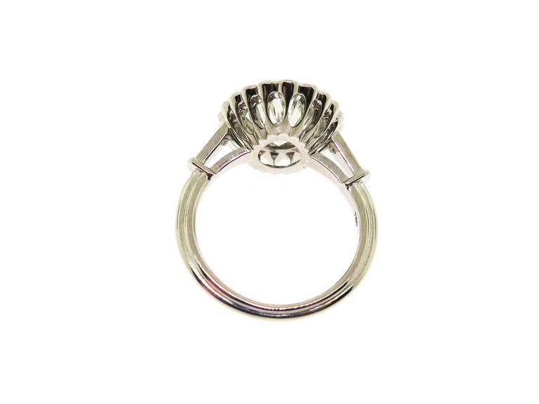 Stunning 3.37 Carat Oval Diamond Sapphire Gold Ring 5