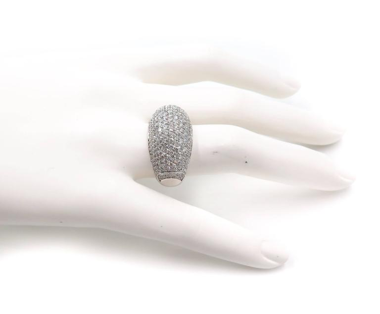 Diamond Pave Ring In New Condition For Sale In Greenwich, CT