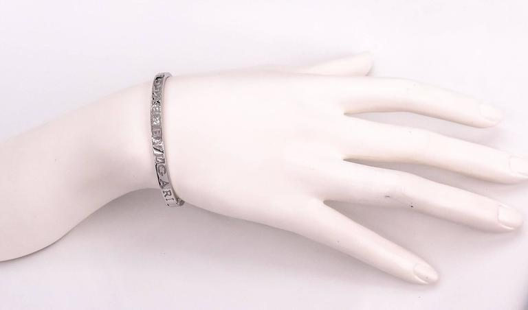 Bulgari Bulgari White Gold Bangle Bracelet For Sale 1