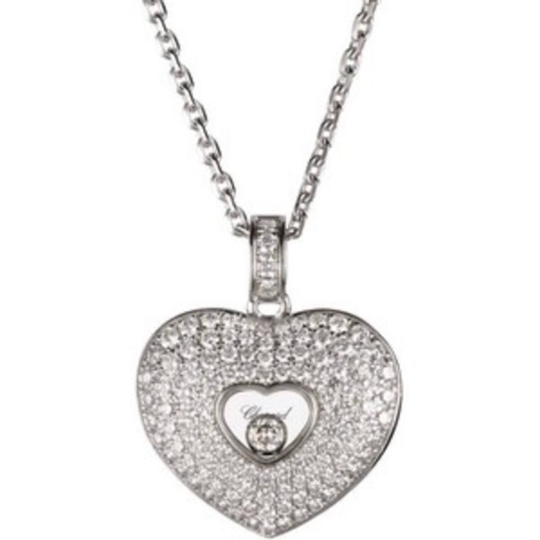 Chopard  Diamond Pave Heart Pendant 2