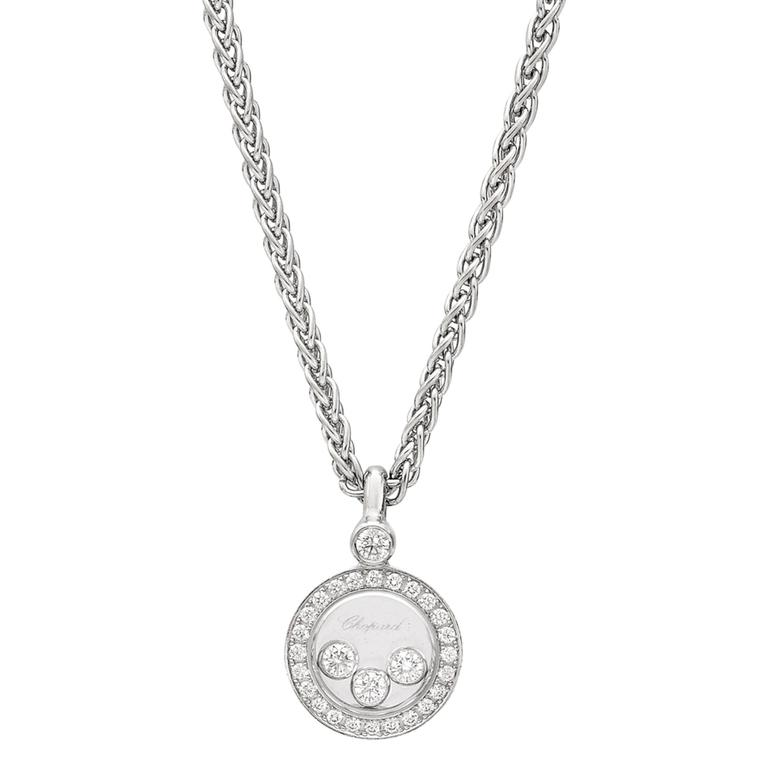 White Gold Happy Diamonds Pendant by Chopard