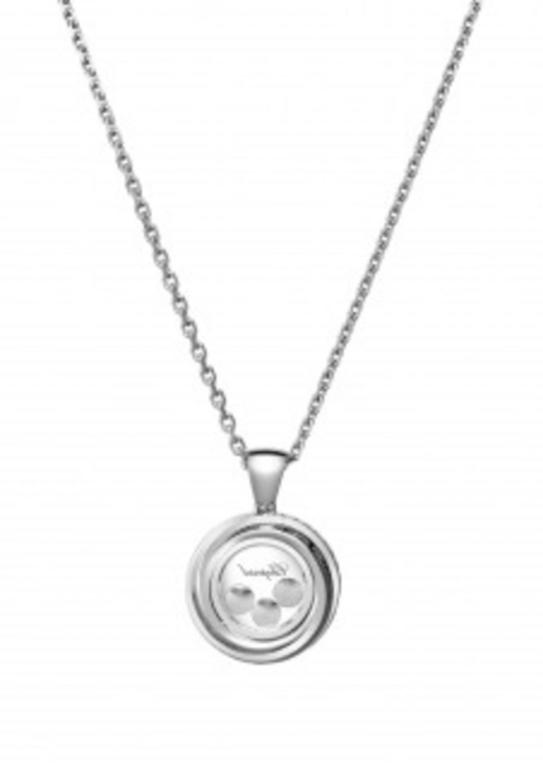 Modern White Gold Happy Emotions Chopard Necklace For Sale