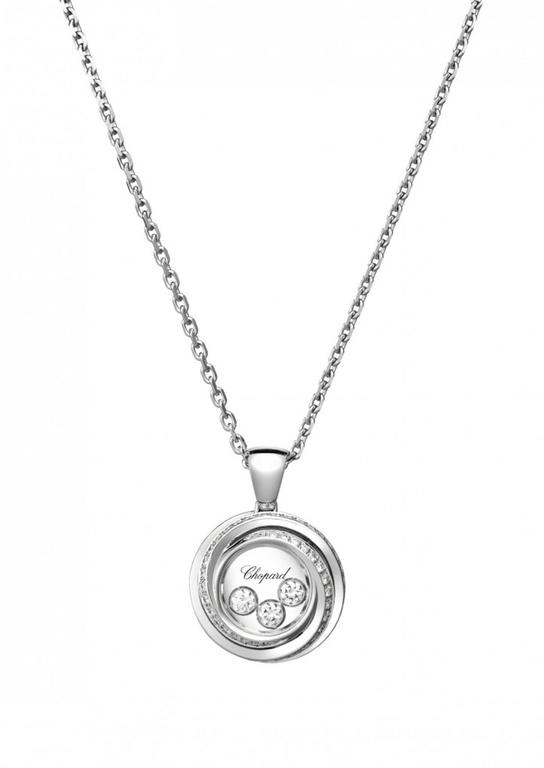 White Gold Happy Emotions Chopard Necklace In New Condition For Sale In Greenwich, CT