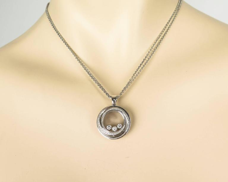 White Gold Happy Emotions Chopard Necklace For Sale 1