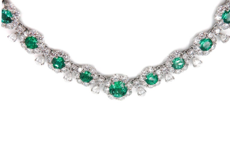 Emerald and Diamond Necklace 5