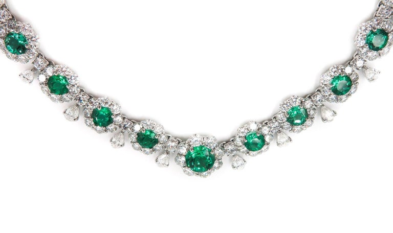 Emerald and Diamond Necklace 4