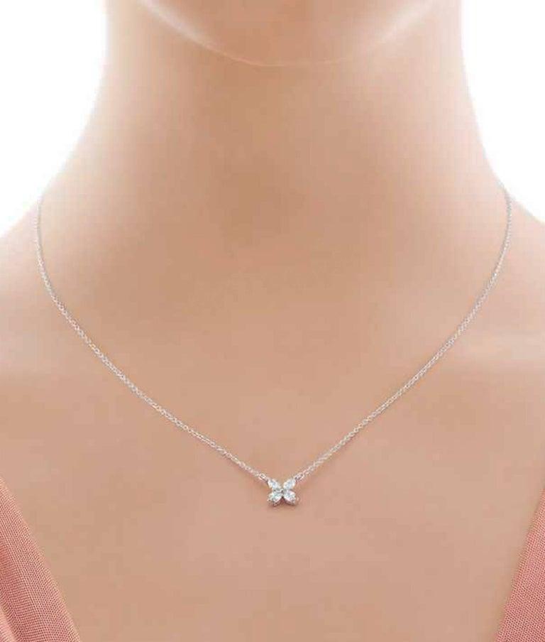 Platinum Tiffany & Co. Victoria Diamond Pendant For Sale 1