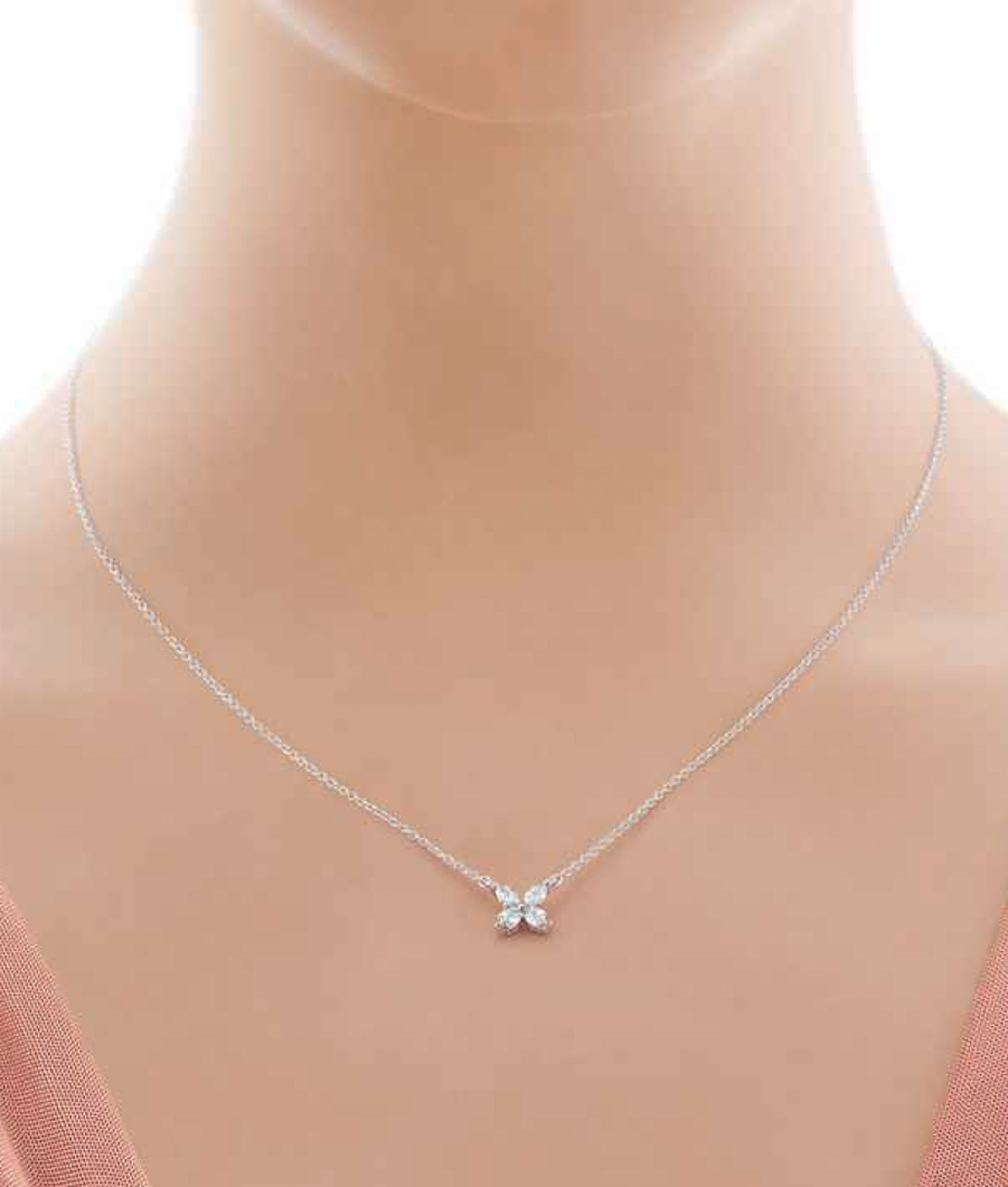 15d0588d7 Platinum Tiffany and Co. Victoria Diamond Pendant at 1stdibs