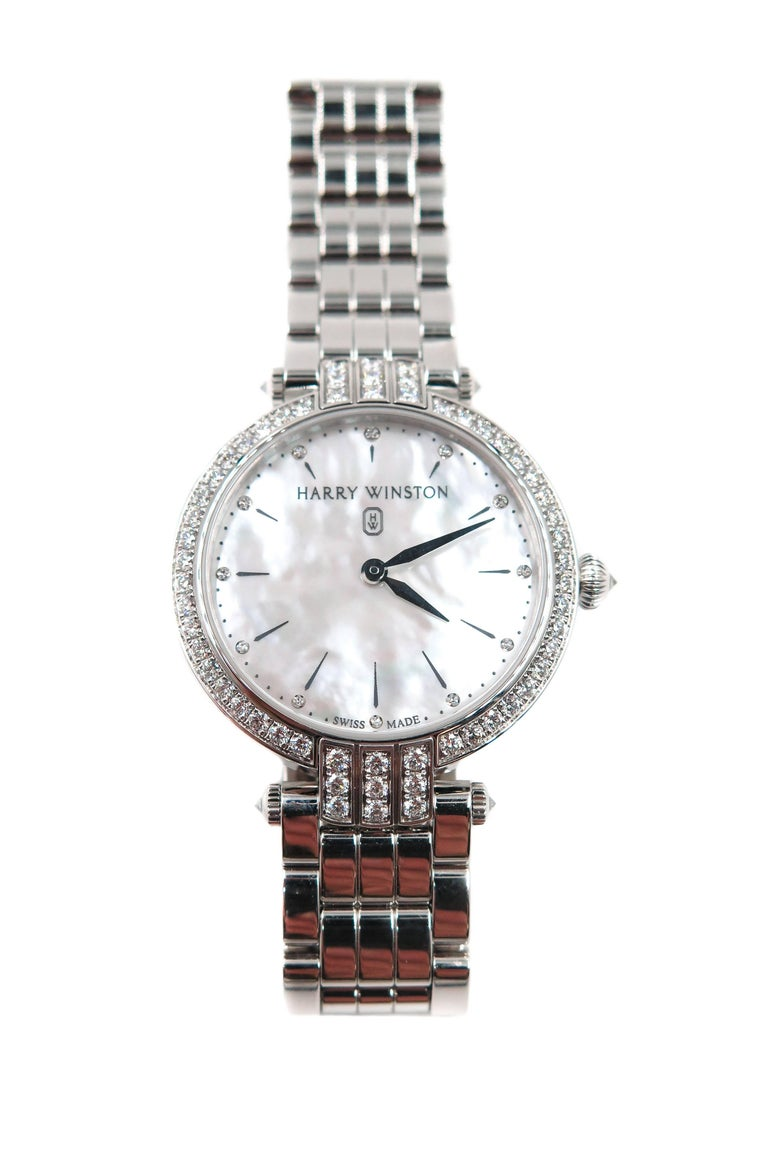 Harry Winston Ladies White Gold Diamond Premier quartz Wristwatch For Sale 1