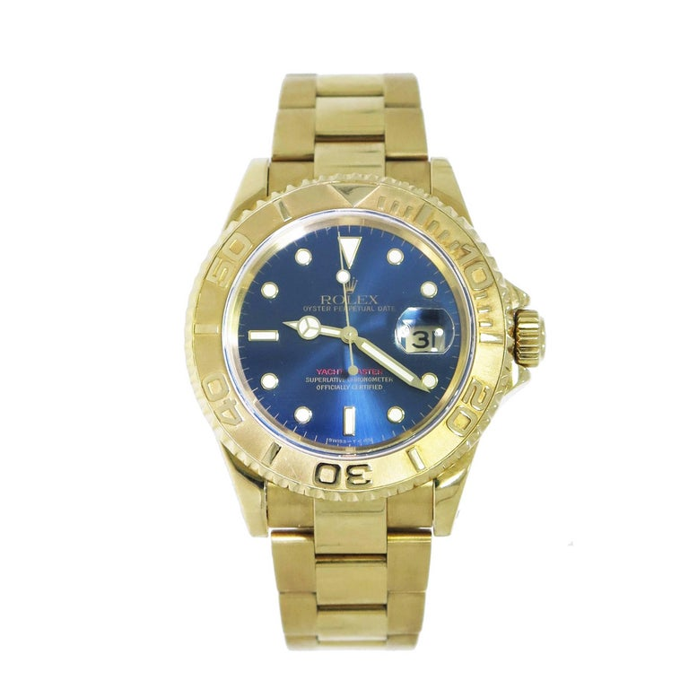 Rolex Yellow Gold Yachtmaster self-winding Wristwatch