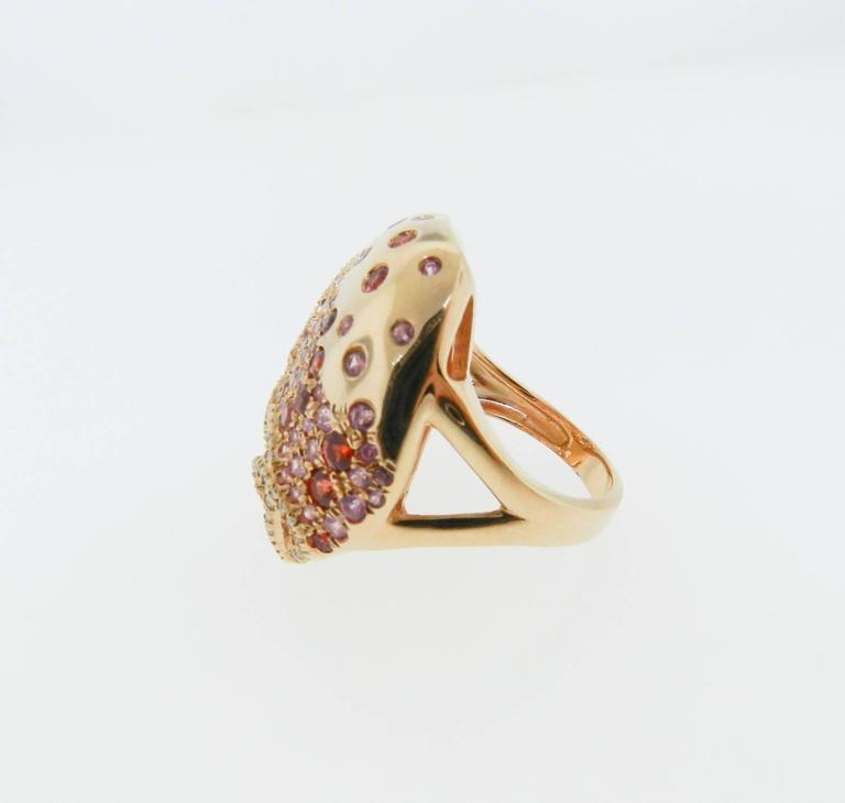 Sapphire Diamond Gold Cocktail Ring 9