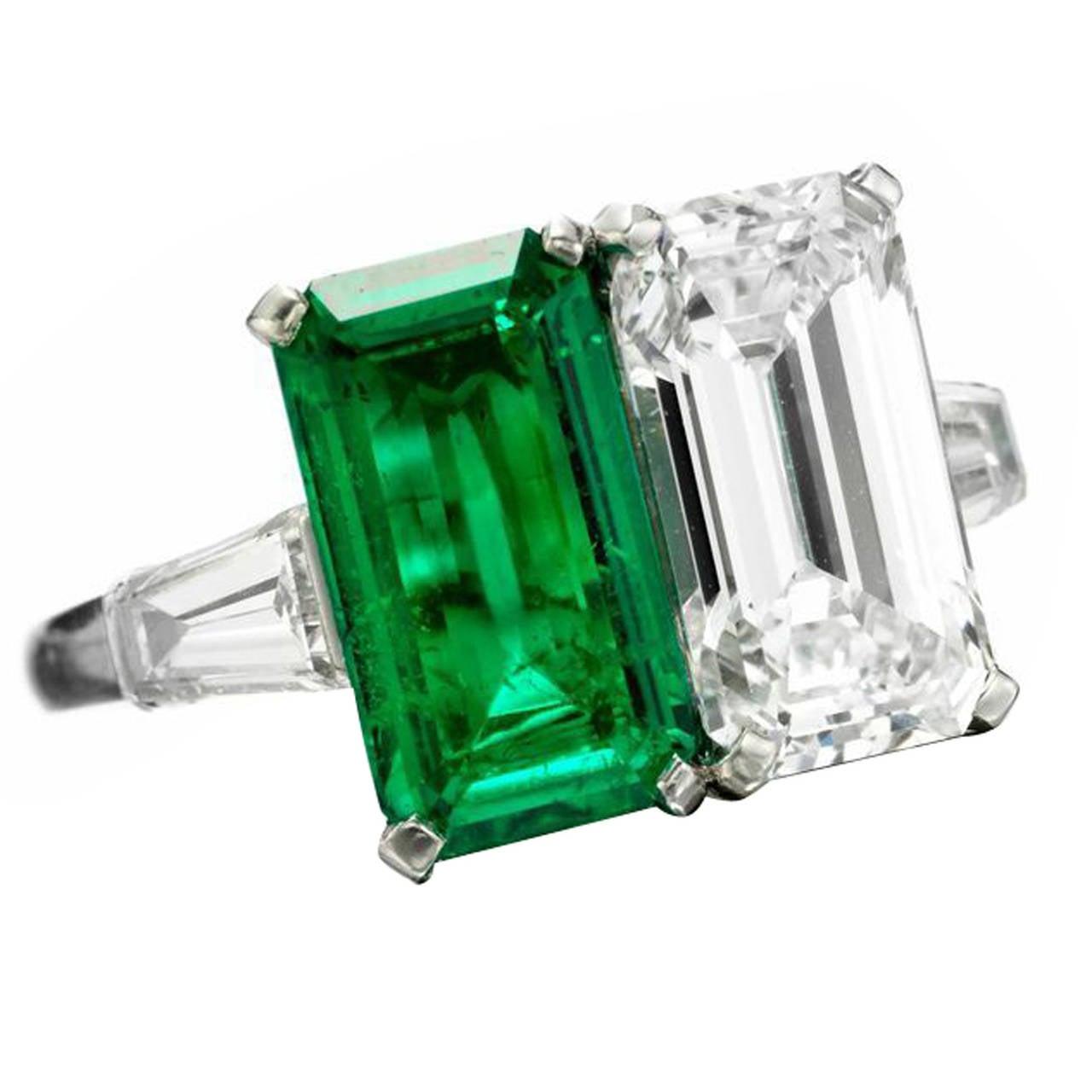 bulgari emerald and ring at 1stdibs