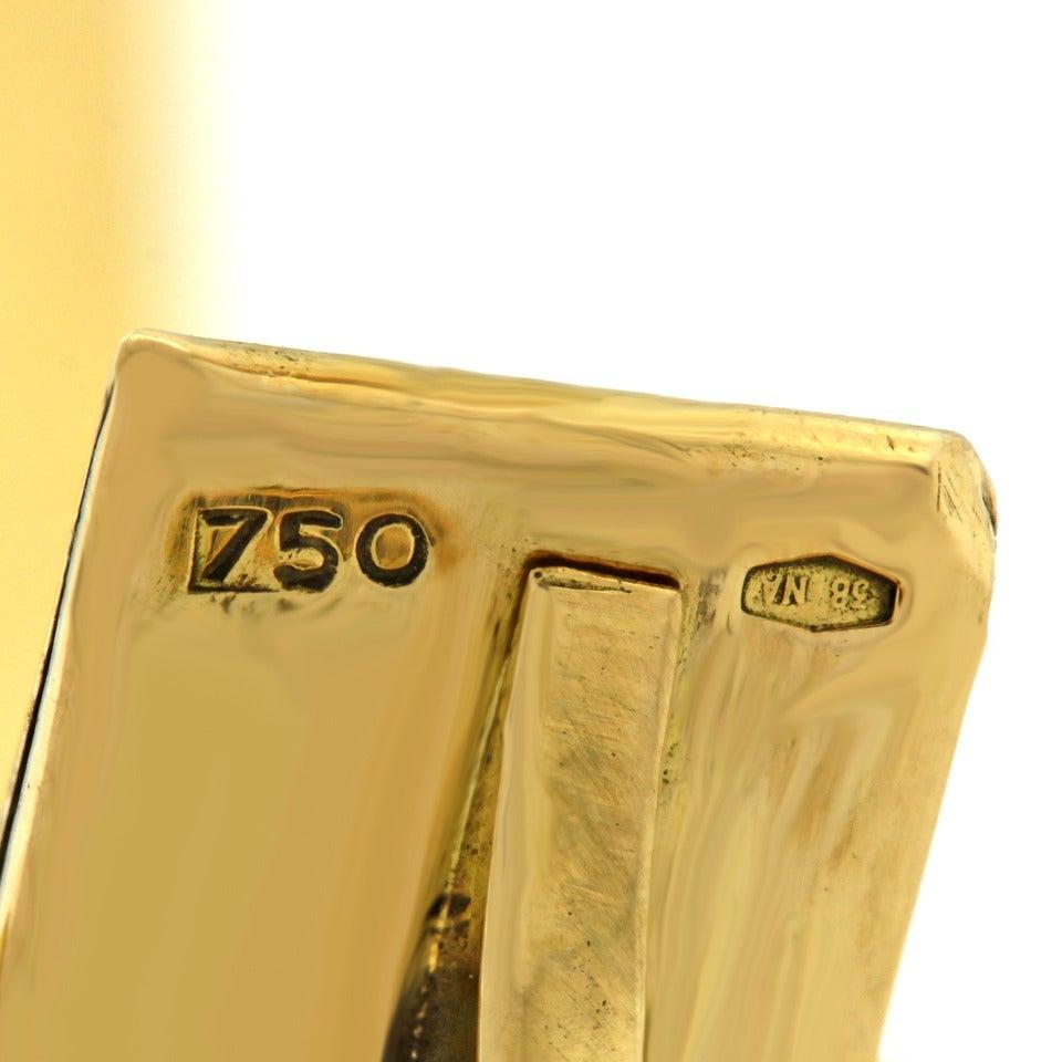 Women's 1960s Black Enamel Gold Polka Dot Bangle Bracelet For Sale