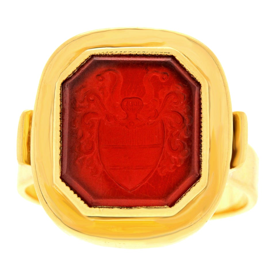 antique carnelian gold seal ring at 1stdibs